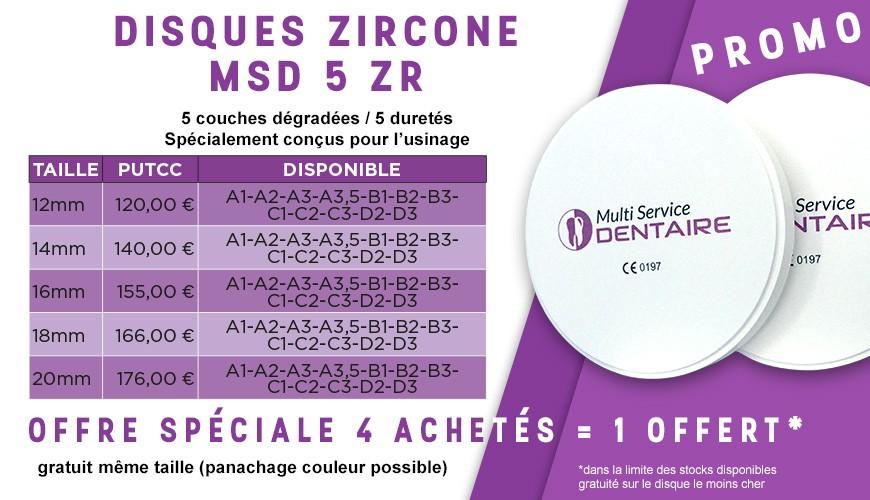 Disques zircone MSD 5 ZR