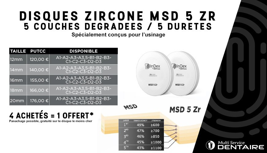 Disque Zircone MSD 5 ZR